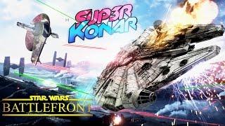 Video MOMO PILOTE LE FAUCON MILLENIUM! Star Wars Battlefront MP3, 3GP, MP4, WEBM, AVI, FLV Juli 2017
