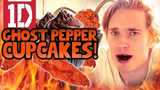 ONE DIRECTION GHOST PEPPER CHALLENGE CUPCAKES! - YouTube