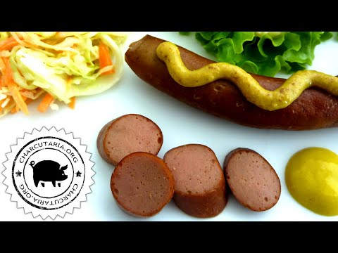 FRANKFURTER salsicha hot dog caseira charcutaria artesanal