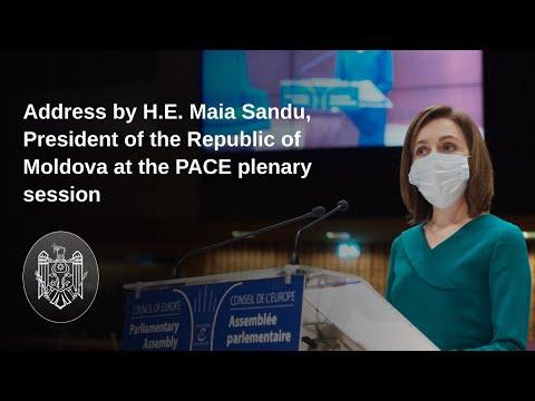 Mesajul Președintelui Republicii Moldova, Maia Sandu, în plenara APCE: Moldovenii se unesc, pregătiți să-și reconstruiască țara