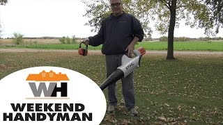 2. #StihlUSA BGA85 Blower In Action demonstration | The Weekend Handyman
