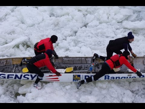 VIDEO: Ice Canoe Race