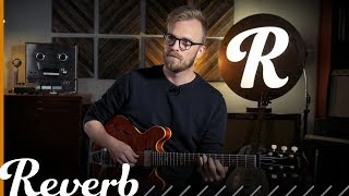 Joey Landreth, of the Bros. Landreth, came by the Reverb office to discuss some of his slide technique. Joey plays a Collings guitar tuned to open C tuning, utilizing baritone strings to achieve the low tuning. Joey combines an intense knowledge of chord tones and his behind-the-slide fretting while playing slide. Read more about Joey Landreth at http://bit.ly/2wnOpTd.
