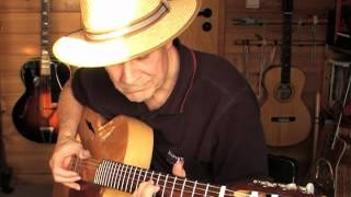 Windy and Warm - Marcel Dadi's medley version on a Dome nylonstring archtop