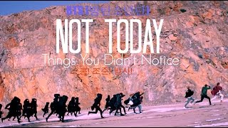 BTS ~ Things You Didn't Notice In Not Today Music Video