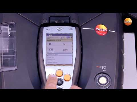 testo 350 Gas Analyser - Step 2 - How to Configuring The Dis