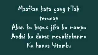 Hitamku -- Andra and The Backbone (lyric)