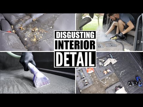 Complete Disaster Full Interior Car Detailing! Cleaning The Dirtiest Van Interior Ever
