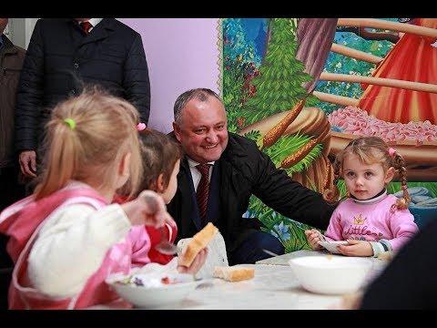 Igor Dodon întreprinde o vizită de lucru în raionul Ungheni