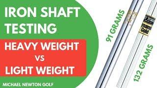Golf Iron Shaft Test - Heavyweight Shaft VS Lightweight Shaft With Launch Monitor Results