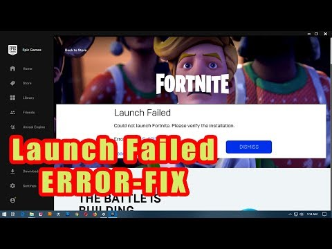 Fortnite Launch Failed/Error Fix 2019
