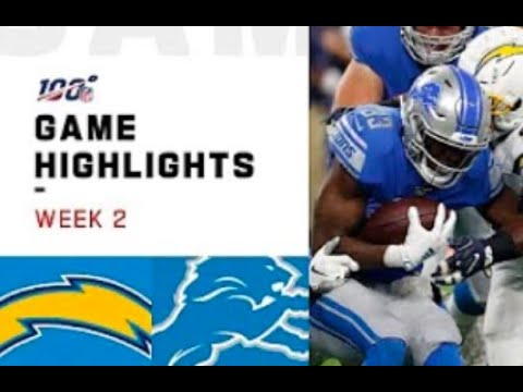 Lions vs. Chargers Week 2 Highlights | NFL 2019