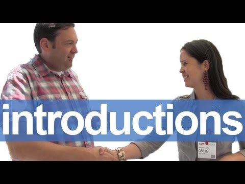 introduce - SUBSCRIBE!: http://bit.ly/RE_sub, Fan! http://bit.ly/RE_FB ESL: Get more comfortable introducing yourself in English with the video that goes over some commo...