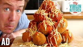 GIANT ARANCINI CROQUEMBOUCHE ft VEETEE RICE #AD by  My Virgin Kitchen