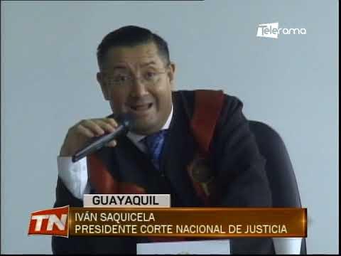 Pleno de la corte nacional de justicia debate varios temas en el puerto principal