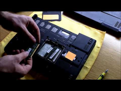 Tutorial: How to upgrade the ram in a Lenovo x201 Laptop (in 1080P)