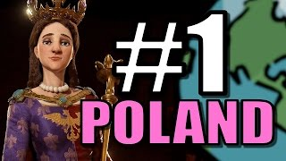 Video Civ 6: Poland Gameplay [True Start Earth Location Map] Let's Play Civilization 6 Poland | Part 1 MP3, 3GP, MP4, WEBM, AVI, FLV Januari 2018