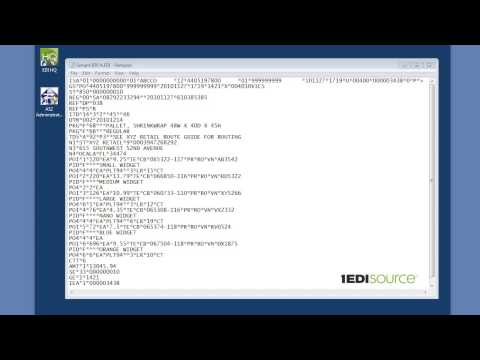 What is EDI - the basics of reading an EDI document. (видео)