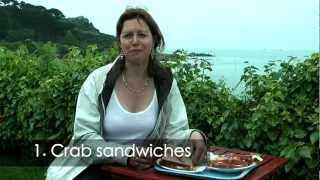 http://www.heatheronhertravels.com/food-guernsey-sark-video/ 10 delicious foods to try in the Channel Islands on Guernsey and Sark including Crab ...