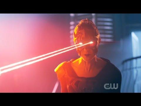 Supergirl 5x13 Team Supergirl vs Reign and Brainy fight (Alternate Timeline)