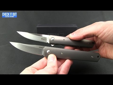 "Boker Plus Mini Kwaiken Flipper Knife Titanium (3"" Satin VG-10) 01BO290"