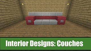Minecraft Interior Designs: Couch Ideas