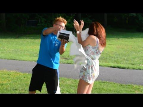 Boyfriend DUMPS PAINT On Girlfriend (GONE WRONG)