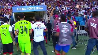 Jogadores do Tricolor e do Rubro-Negro acabaram se desentendendo depois do apito final. Esporte Interativo nas Redes...