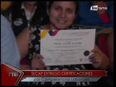 SECAP entregó certificaciones por competencias laborales
