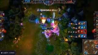 TSM WildTurtle Pentakill vs compLexity Gaming I LCS NA League of Legends