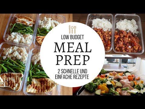 Meal prep Rezepte I Mittagessen & Abendessen zum Mitnehmen I Abnehmen