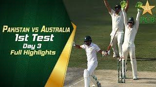 Pakistan vs Australia 1st Test Day 3 Highlights   PCB