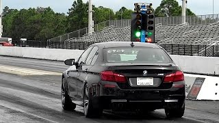 Tune Only - Twin Turbo BMW M5 1/4 Mile Drag Video x 2 - 11.4 @ 125 mph- Road Test TV by Road Test TV