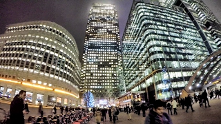 Canary Wharf Night Time Walk