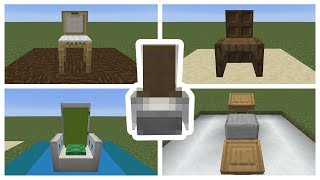 TOP 5 MINECRAFT CHAIR DESIGNS! (Minecraft 1.14)