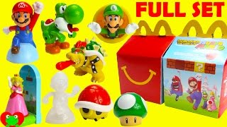 2017 Super Mario McDonald's Happy Meal Toys Full Set
