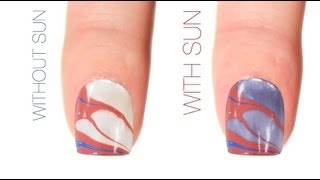 Water Marble Color-Changing Nail Art Design