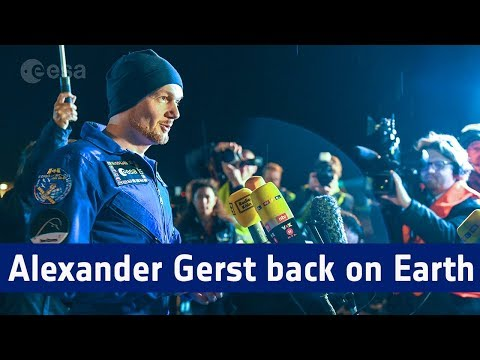 First interview with Alexander Gerst back on Earth © European Space Agency, ESA