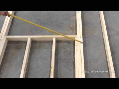 Frame - Shannon from http://www.house-improvements.com shows you how to layout and construct a wood wall framing containing a window and door. This is part of our se...