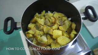 Potato & Onion Soup Recipe - Vegan, so simple, potatoes, onions, garlic, thyme - Enjoy. Love this soup recipe. As part of the HOW ...