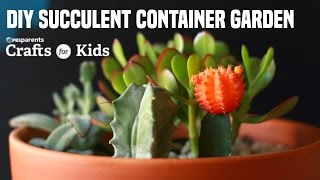 Easily make your very own DIY Succulent Container Garden using a terracotta pot, some small rocks, potting soil and tiny succulent plants! For full instructions go to: http://www.pbs.org/parents/crafts-for-kids/diy-succulent-container-gardenSubscribe for new videos every Wednesday: http://www.youtube.com/subscription_c...Crafts for Kids is a weekly series that encourages parents and kids to spend time together making fun and simple projects. Brought to you by PBS Parents and Caroline Gravino of Salsa Pie Productions. Music provided by APM.