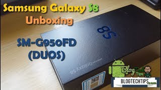 This is a detailed unboxing of the Samsung Galaxy S8 looking at everything that comes with this great flagship smartphone. The model in this video is the Samsung Galaxy S8 DUOS  model SM-G950FD which is the dual Sim International version, this version is identical to those from T-Mobile,AT&T,Sprint with only a few slight differences such as support for two SIM cards, Adapter brick that comes in the box, processor and that's it everything else is exactly the same. Its almost impossible to tell them apart as they perform and look the same this is only another choice among the various versions that exists from different carriers.