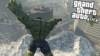 Video The Hulk vs Tsunami GTA V MP3, 3GP, MP4, WEBM, AVI, FLV September 2018