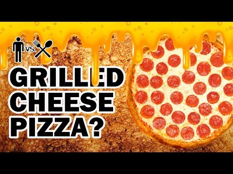 Grilled Cheese Sandwich Pizza Bowl Thingy ? – Man Vs Din