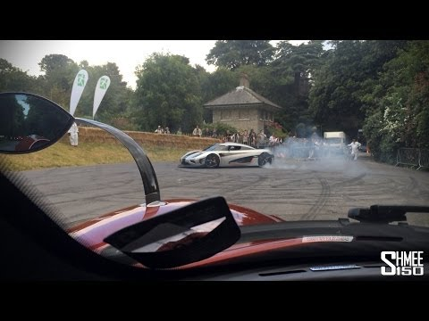 koenigsegg one:1 goes mad! - doughnuts, burnout and revs