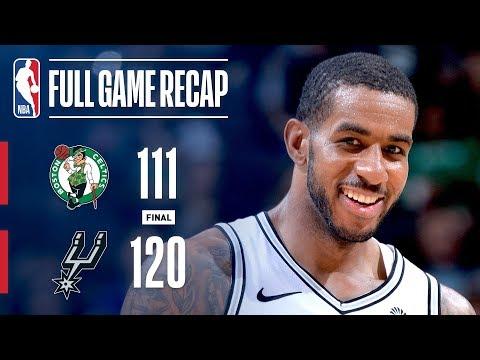 Video: Full Game Recap: Celtics vs Spurs   Aldridge Leads SAS Past BOS
