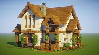 Minecraft: Big Cottage House / Mansion Tutorial - [ How to Make a Cottage House ] 2020
