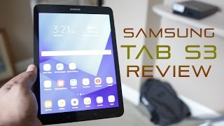 Review of the Samsung Galaxy Tab S3 tablet. If you liked the video  make sure to click the like button, share the video an Subscribe!!More info: http://amzn.to/2n9xeBwCase: http://amzn.to/2oGzIEnFollow me on Twitter http://bit.ly/naPkja