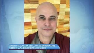 O ator deu uma declaração emocionante sobre a reação ao saber que estava com câncer. Confira na Hora da Venenosa desta...