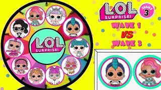 Video LOL SURPRISE Series 3 Wave 1 VS Wave 2 Spinning Wheel Game Toy Surprises MP3, 3GP, MP4, WEBM, AVI, FLV Februari 2019
